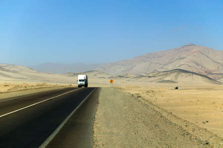 Two trucks crossing the Atacama. Stock Photo - 2874931