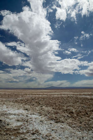 broken hill: Broken-up saltcrust with a deep polarized sky at Atacama Desert, Chile.