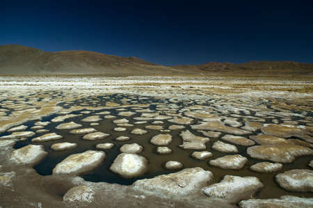 Dessiccated salt lake, building up a lot of salt bumps, located near Atacama Desert, Chile. Stock Photo - 2875104