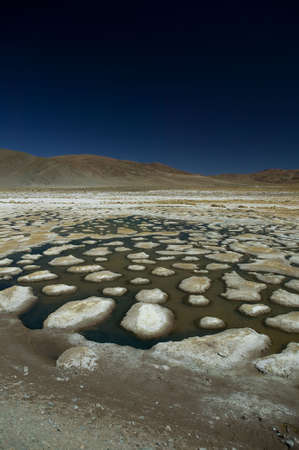 Dessiccated salt lake, building up a lot of salt bumps, located near Atacama Desert, Chile. Stock Photo - 2874941