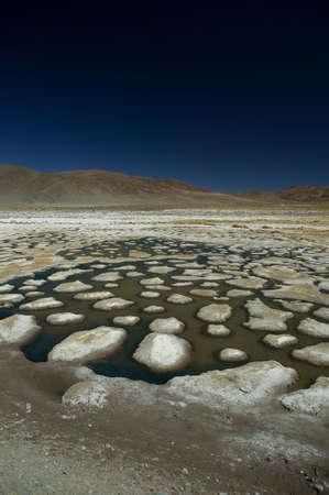 Dessiccated salt lake, building up a lot of salt bumps, located near Atacama Desert, Chile. Stock Photo - 2874941