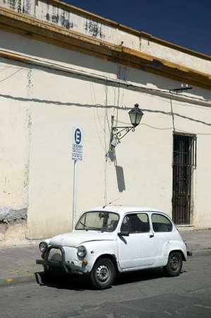 Nice rare Italian veteran car, seen in the streets of Salta, Argentina.