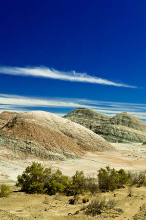 Soft hills in harmonic perfect landscape in Argentina. Stock Photo