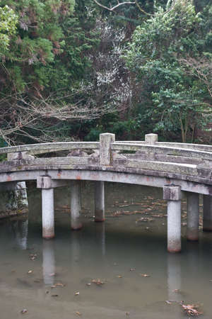 Japanese Garden with bridge. Stock Photo - 3961015