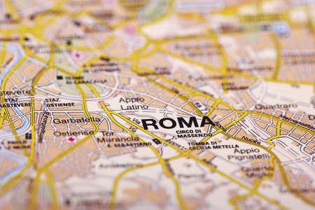 Rome Map Detail; selective focus
