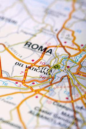Vatican Map Detail; selective focus Stock Photo