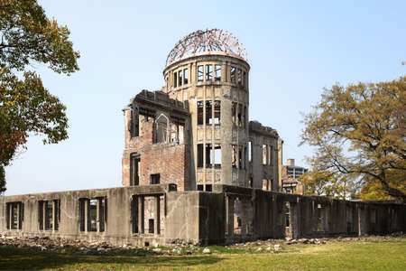 The A-Bomb Dome, the ruins of the former Hiroshima Prefecture Industrial Promotion Hall which was destroyed by the first atomic bomb ever to be used in the history of humankind on August 6, 1945.
