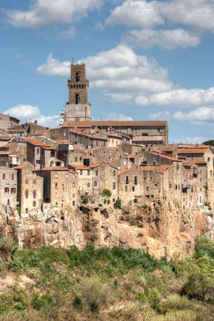 Typical old tuscany village, built on a cliff. Pitigliano, TuscanyItaly. photo