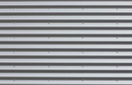 Corrugated iron wall with blanks. Stock Photo