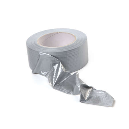Fortified silver adhesive tape on roll. photo