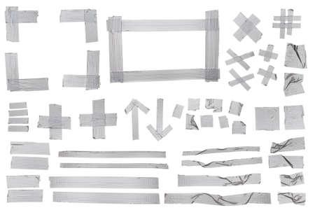 Silver masking tape samples for designers.
