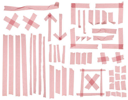 Collection of striped masking tape. photo