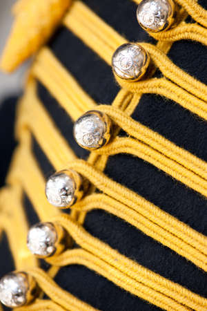 Uniform details of a mounted Horseguard.