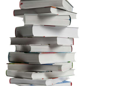 concept images: Stack of book over isolated white background  Stock Photo