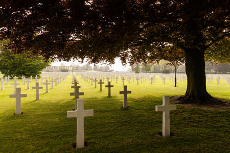 ii: Tranquil spring scenery at the American military cemetery Henri-Chapelle, Belgium