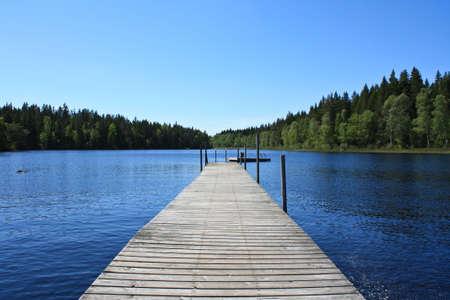 Lake in Sweden Stock Photo