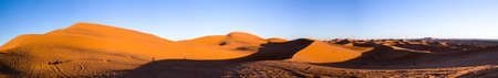 sunset at the sand dunes in Marocco