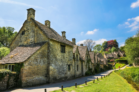 Ancient Building of Bibury, England. Stock Photo