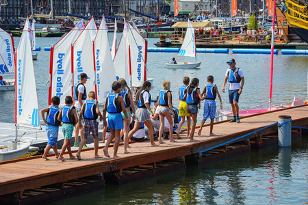 happening: Kids are learning to sail at SAIL Amsterdam 2015, the largest free public sail event in the world. AUGUST 20, 2015 AMSTERDAM THE NETHERLANDS