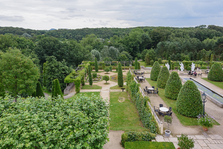 mondo: Landgraaf, The Netherlands - July 12, 2016: Parc Mondo Verde picture of the terrace of a restaurant in the park.