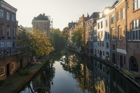 utrecht: The Oudegracht in the old town of Utrecht.