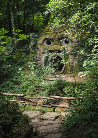 mondo: Landgraaf, The Netherlands - July 12, 2016: the stoned scream in the forest or films Parc Mondo Verde.