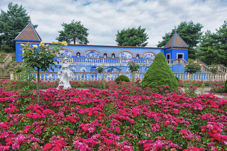 Landgraaf, The Netherlands - July 12, 2016: The Palacio dos Marquises de Fronteira in Lisbon was the inspiration for this garden and gallery. Editorial