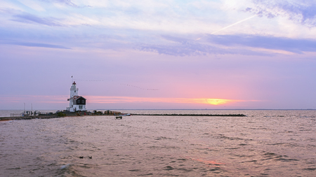The Horse of Marken is a famous Dutch lighthouse located at the Ijsselmeer at the village called Marken.