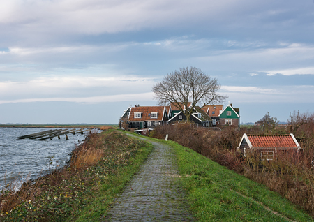 marken: A morning walk on the island of Marken, Netherlands. Stock Photo