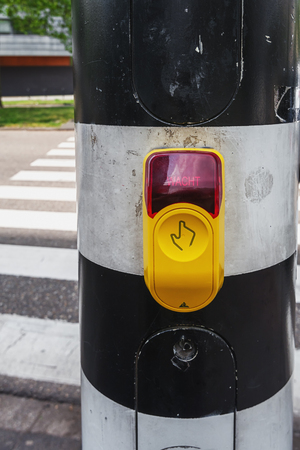 Push button of a pedestrian light in rotterdam Stock Photo - 75938858