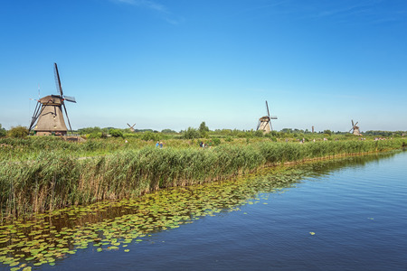 The Kinderdijk mills cover nineteen mills in the northwest of the Alblasserwaard, a polder in the province of Zuid-Holland in The Netherlands