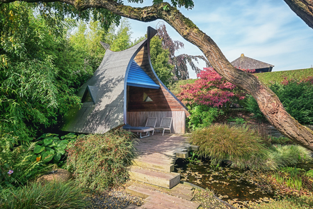Apeltern, Netherlands, September 29, 2017: Appeltern Gardens in the Netherlands is an opportunity to meet fresh and creative ideas in the field of garden design.