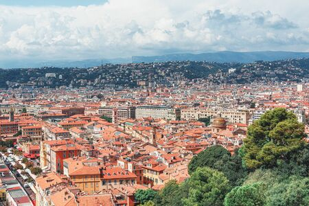 Top view of the old town of Nice in France