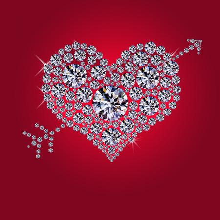 coeur diamant: Coeur de diamant Banque d'images