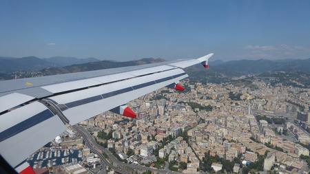 genoa: landing in Genoa Stock Photo