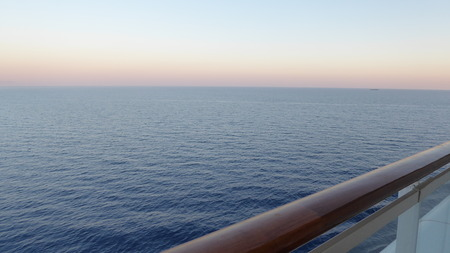 afloat: evening at sea