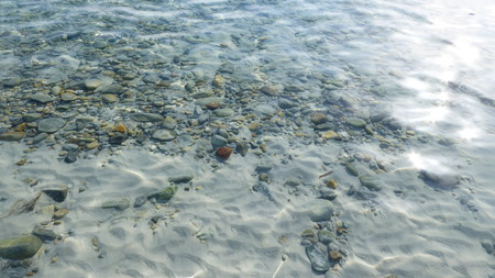 crystal clear: Crystal clear water on the beach