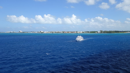 pleasure craft: View from passanger ship