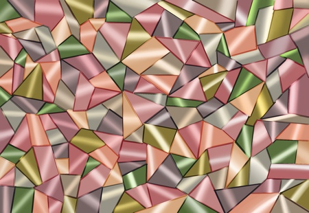 Poligonal Multicoloured Abstract pattern in Cubism style