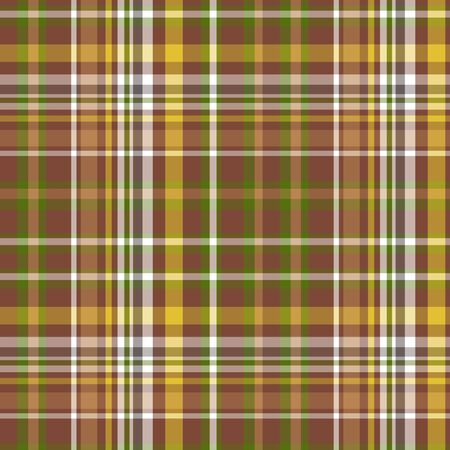 Seamless checked plaid pattern in olive colors