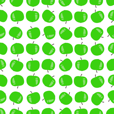 Seamless pattern of apples, vector illustration on a white background.