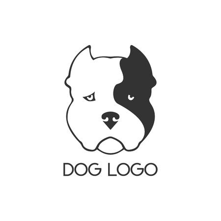 Dog logo. Dog face on white background. Vector.