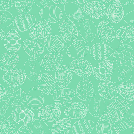 Holy Easter seamless background. Green spring background. Vector illustration.