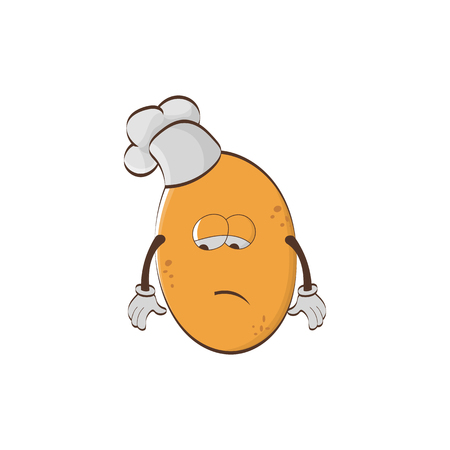 Cartoon character - potato chef isolated on white background.