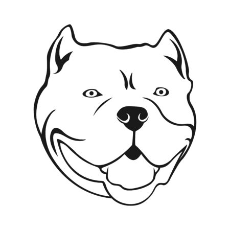 American bully emblem. Cartoon Bully's dog head. Иллюстрация