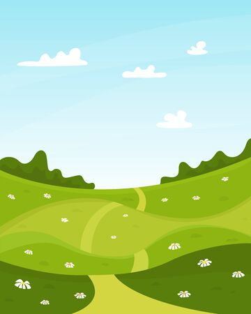 Vector nature summer landscape background. 일러스트