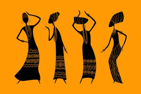 Dancing African women vector image.