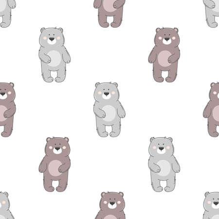 Bear seamless pattern.