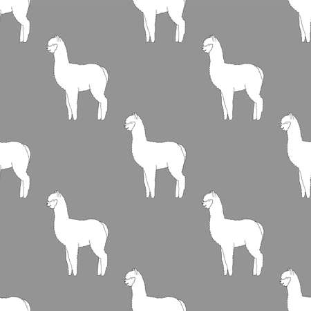 Cute Lama seamless pattern. Design for fabric, textile, wallpaper and decor.