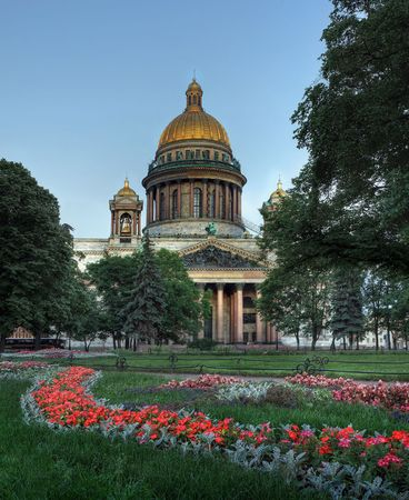 The St Isaacs cathedral is in centre of St-Petersburg. photo